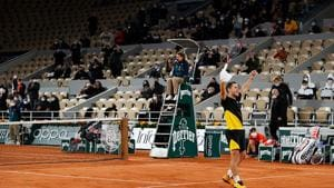 French Open 2020: Diego Schwartzman celebrates after winning the match point(Getty Images)