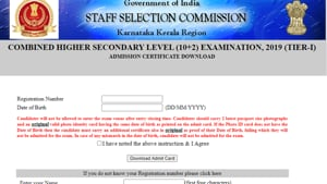 SSC CHSL Tier 1 exam 2020.(Screengrab)