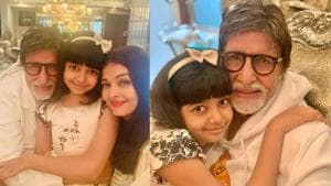 Aishwarya Rai has shared fresh pictures from Amitabh Bachchan's at-home birthday party.