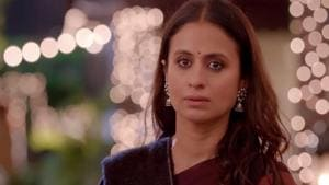 Actor Rasika Dugal in a still from web series Out of Love, which is an adaption of British drama series Doctor Foster.