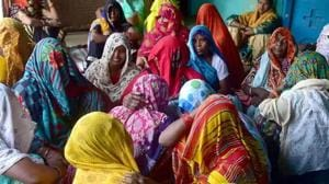 Relatives of the rape victim mourning in Hathras on September 29, 2020.(ANI File Photo)