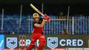 Royal Challengers Bangalore batsman AB de Villiers plays a shot during a cricket match of IPL 2020 against Kolkata Knight Riders.(PTI)