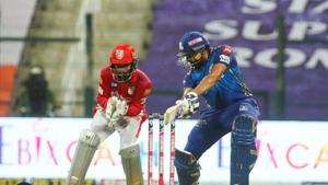 Photo of Rohit Sharma from 13th IPL 2020 match between KXIP and MI(Twitter)