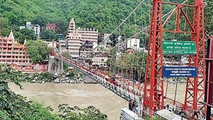The alleged offence took place in August in Lakshmanjhula, a major tourist attraction in Rishikesh.(HT FILE PHOTO)