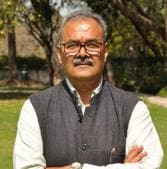 Former INLD leader Parminder Singh Dhull BJP had joined the BJP in 2019 ahead of the assembly elections.(HT Photo)