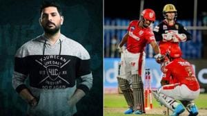 Photos of Yuvraj Singh & Nicholas Pooran(Twitter)