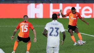 Photo from the Champions League match between Real Madrid & Shakhtar Donetsk(UEFA Champions League/ Twitter)