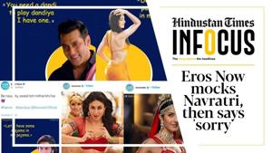 #BoycottErosNow trends after pervy Navratri posts; when naughty turns raunchy