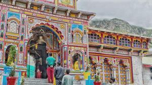 The Badrinath shrine.(HT photo)