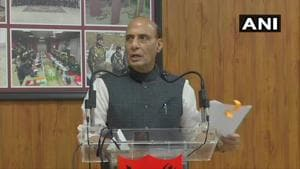Rajnath Singh is on a two-day visit to Sikkim and West Bengal.(ANI Photo)