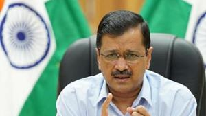 Responding to AAP's allegations, Delhi BJP chief Adesh Gupta said the Kejriwal government owed crores of rupees to the three municipal corporations.(HT Photo)