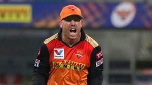 Skipper David Warner of Sunrisers Hyderabad.(PTI)