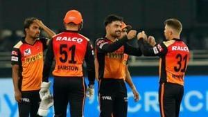 Photo of Sunrisers Hyderabad from an IPL 2020 match in UAE(IPL/Twitter)
