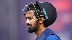 KL Rahul during one of India's net session.(Getty Images)