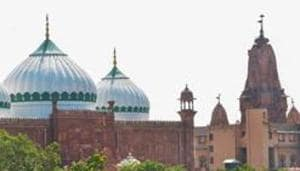 A view of Sri Krishna Janmabhoomi temple and Shahi Idgah mosque, in Mathura.(PTI)