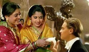 Renuka Shahane, Reema Lagoo and Leonardo DiCaprio feature in viral Hum Aapke Hain Koun meets Titanic meme.