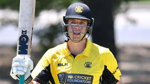 Cameron Green celebrates his fifty during the Marsh Cup.(Getty Images)