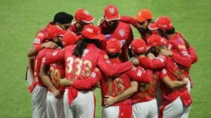 Photo of Kings XI Punjab team from an IPL 2020 match in UAE(Twitter)