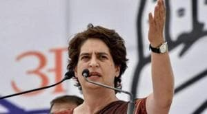 """Tagging the video statement of Mayawati, Congress General Secretary in-charge UP Priyanka Gandhi tweeted in Hindi, """"Is there anything left (to be said) after this?""""(PTI)"""