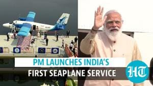 Watch: PM Modi launches India's 1st seaplane service between Kevadia & Sabarmati
