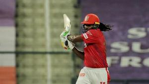 IPL 2020, KXIP vs RR: Chris Gayle throws his bat in anger after getting out for 99