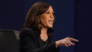 Kamala Harris said the country is undergoing a major health crisis, with the death of more than 220,000 Americans due to coronavirus pandemic and blamed President Donald Trump for the situation.(AP)