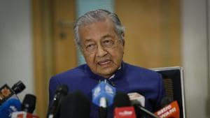 """Former Prime Minister Mahathir Mohamad whose tweet was removed by Twitter as it contained remarks """"glorifying violence"""".(AP)"""