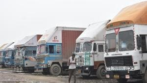 Mid-October with main festivals like Dussehra and Diwali lined up is the peak demand season and, as a result, a busy time for diesel-guzzling trucks hitting the roads to deliver everything from clothes to refrigerators.(Yogendra Kumar/HT file photo)