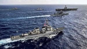 The 24th edition of the Malabar exercise is scheduled in two phases with the first phase set to kick-start off Visakhapatnam in Bay of Bengal from November 3-6, the Indian Navy said in a statement on Monday.(PTI file photo for representation purpose)