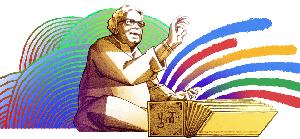 Doodle shared by Google for Purushottam Laxman Deshpande's 101st birthday.(Google)