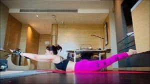 Kriti Sanon gives a hilarious explanation for nailing Yoga pose Viparita Shalabhasana(Instagram/kritisanon)