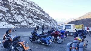 Tourists are thronging Lahaul-Spiti valley, opening up possibilities of income generation through homestays.(HT photo)