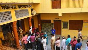 In Bulandshahr, BJP's Usha Sirohi was leading by 9,841 votes over Bahujan Samaj Party's Mohammed Yunus.(HT file photo)