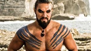 Jason Momoa as Khal Drogo in a still from Game of Thrones.