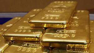On Wednesday, gold futures fell 0.15% to Rs 50,425 per 10 gram.(Reuters Photo)