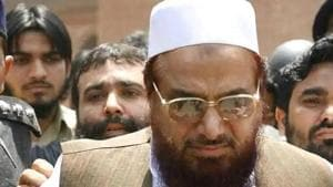 India has accused LeT founder Hafiz Saeed, who is currently in jail in Lahore after being convicted of terror financing, of masterminding the Mumbai attacks. (HT file photo)