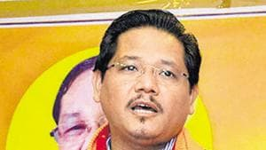 Later, Sangma took to Twitter and announced the resounding victory against the opposition's motion on Wednesday night.(PTI file photo)