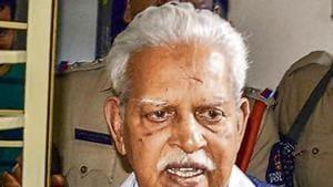 Telugu poet and activist P Varavara Rao(PTI Photo)