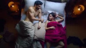 Aditya Roy Kapur and Sanya Malhotra in a still from Ludo.