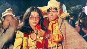 Zeenat Aman and Dev Anand worked together for the first time in Hare Rama Hare Krishna.