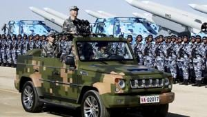 Shiquanhe, a garrison depot 82km from Demchok LAC with Gar Gunsa airport, has become a hub for Beijing's relocation of troops and heavy equipment.(Xinhua via AP)