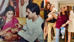 Kriti Sanon has wished her parents on their wedding anniversary.