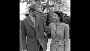 The image shows The Queen and The Duke on their honeymoon at Broadlands in Hampshire.(Instagram/@theroyalfamily)