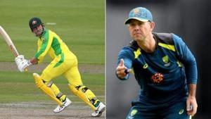 Australian all-rounder Marcus Stoinis (L) and former Australian captain Ricky Ponting(Twitter)