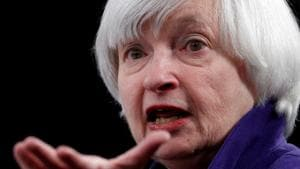Janet Yellen at a news conference.(REUTERS/ FILE)
