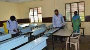 Principal of B D Memorial Bijoya Choudhury told PTI on Tuesday, the school authorities will initiate the process to start classes with COVID-19 protocols once they receive the advisory from the state education department(HT file)