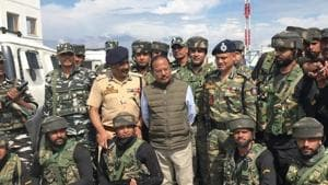 National Security Adviser Ajit Doval flew down to Srinagar in August 2019 to reach out to people and security personnel after Parliament scrapped Jammu and Kashmir's special status.(Sourced)