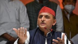 Filr photo: Former Uttar Pradesh chief minister and Samajwadi Party president Akhilesh Yadav.(PTI)