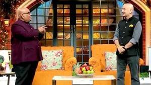 Satish Kaushik and Anupam Kher on The Kapil Sharma Show.