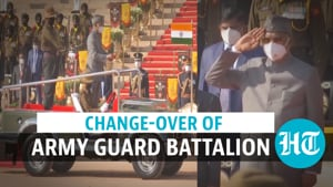 Watch: President Kovind witnesses ceremonial change-over of Army Guard battalion
